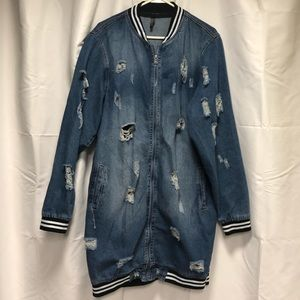"Jackets & Blazers - ""Tattered"" Denim Jacket"